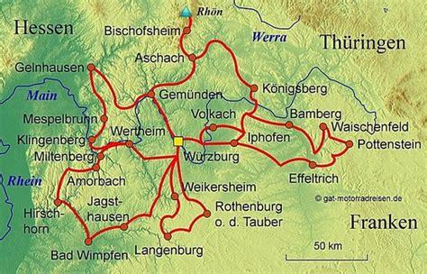 Motorrad Deutschlandkarte by Motorradreise Franken Gef 252 Hrte Motorradtouren