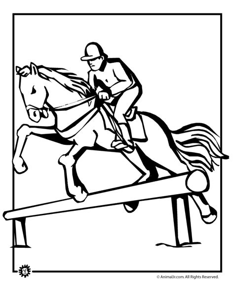 coloring pictures of horses jumping jumping clipart cliparts co