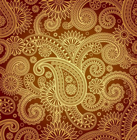 gold damask pattern gold damask vector art graphics freevector com