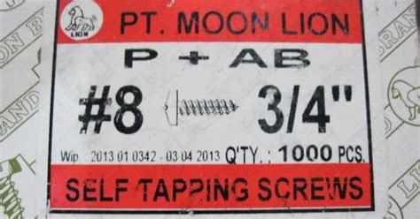 Eceran Moon Taping Skrup 8 X 1 1 2 Skrup 4cm 1 jual skrup grosir dan eceran lintang fittings