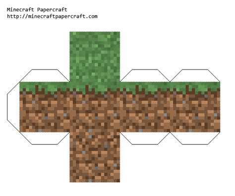 minecraft grass block origami