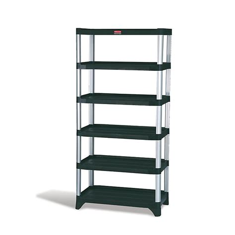 rubbermaid fg9t4000bla 72 3 4 quot xtra shelving unit 6