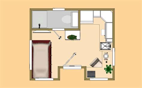 the 160 sq ft lone wolf floor plan micro homes under 200 sq ft p