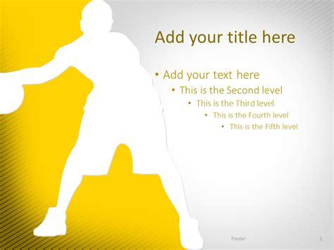 basketball powerpoint template yellow presentationgo