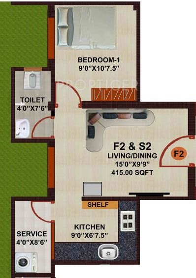 415 sq ft 415 sq ft 1 bhk 1t apartment for sale in jkb sri jeevan