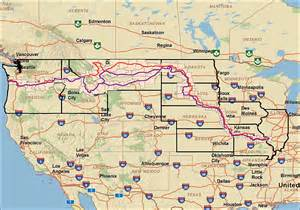 Lewis And Clark Route Map by Lewis And Clark Route To The Pacific Map
