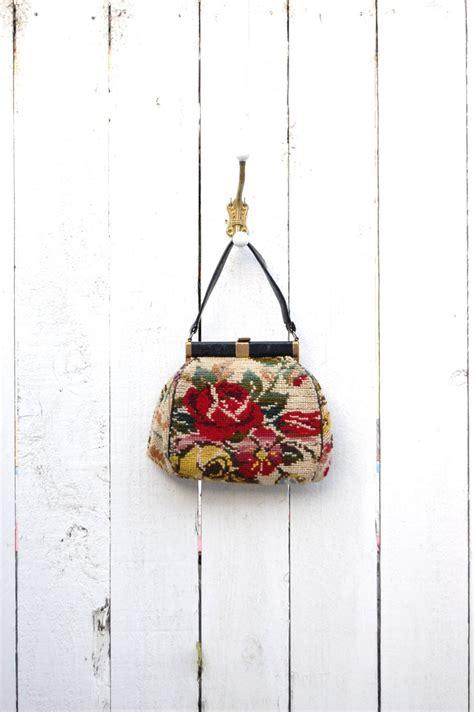 Bag Tas Chanel Flower Large vintage 50 s 60 s large needlepoint handbag purse bags vintage floral chanel