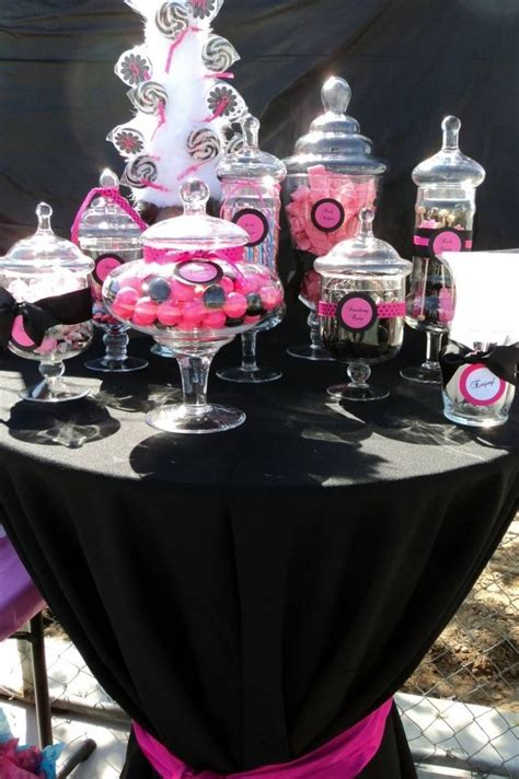 186 Best Images About Wedding Colors Pink And Black On Pink And Black Buffet