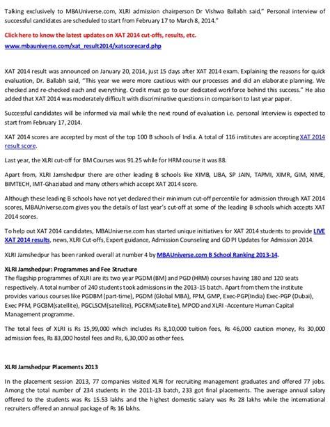 Xlri Global Mba Gmat Cut xlri 2014 cut declared xlri bm hrm courses cut