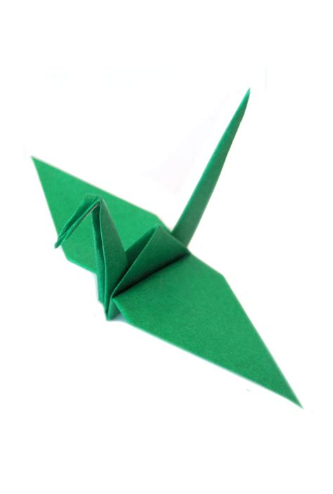 Origami Of Crane - paper origami crane green graceincrease custom origami