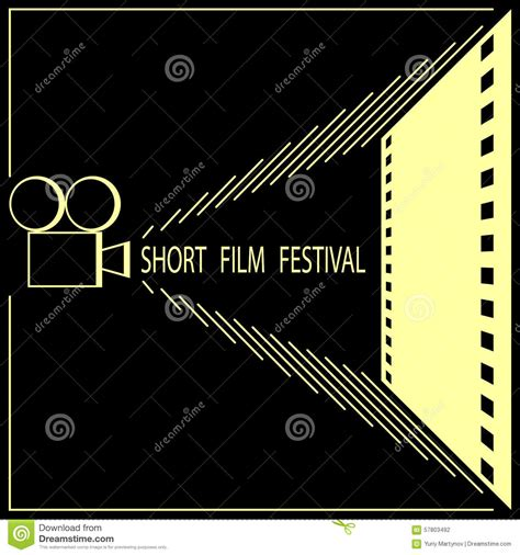 short film festival cinema film festival poster stock
