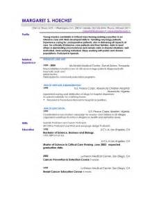 Exles Of Profile Statements For Resumes by Resume Sles Exles