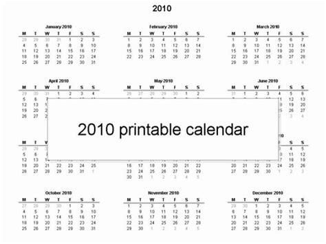 2010 calendar template free printable 2010 calendar