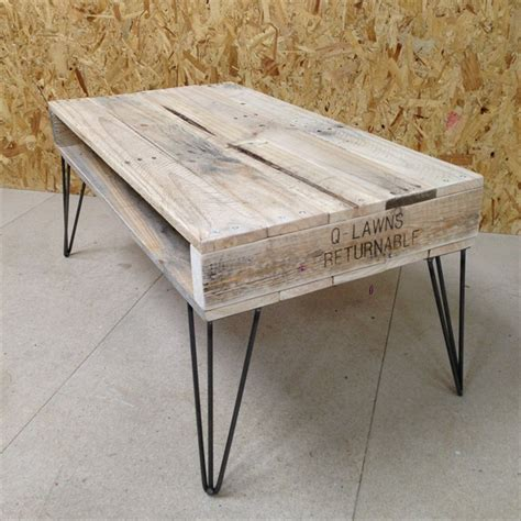 diy side table hairpin legs 13 diy pallet tables with hairpin legs 1001 pallet ideas
