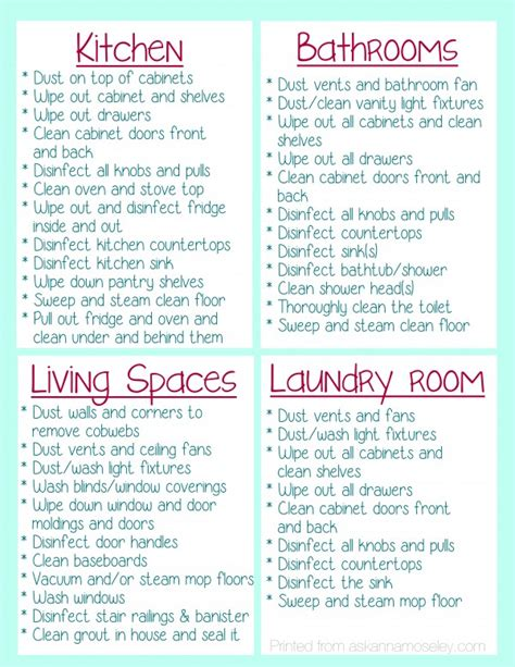 cleaning your house clean your house before you move in free printable ask