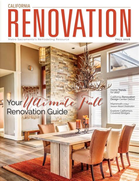 home renovation magazines california renovation fall 2016 by lavish living magazine