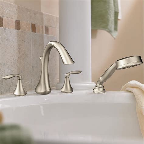 roman bathtub faucets moen t944bn eva two handle high arc roman tub faucet and