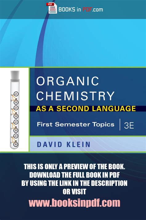 Pdf Organic Chemistry As Second Language organic chemistry as a second language pdf 3e free