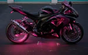 Pink Suzuki Motorcycle Pink Black Suzuki Gsx R 750 Motorcycle With Multicolor