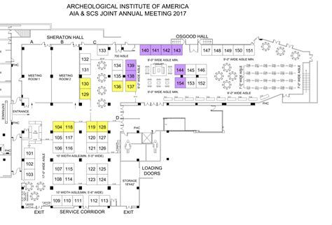 exhibit floor plan aia annual meeting online exhibit hall archaeological