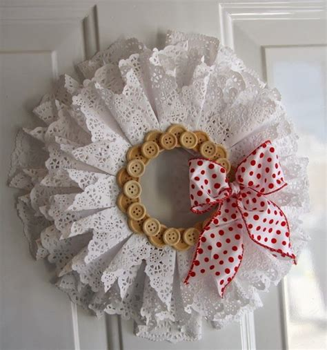 Paper Doily Craft - simply creative beautiful diy wreath make