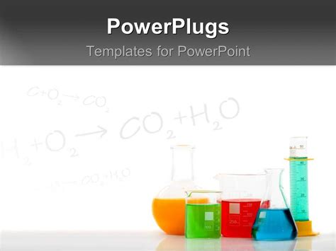 Powerpoint Template Chemical Equations On Chalkboard With Laboratory Equipments Filled With Powerpoint Templates Chemistry Free