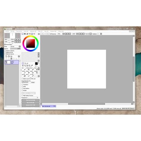 tool sai android tablet software featuring pressure sensitivity for graphics