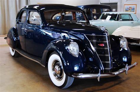 navy blue v12 restored 1937 lincoln zephyr bring