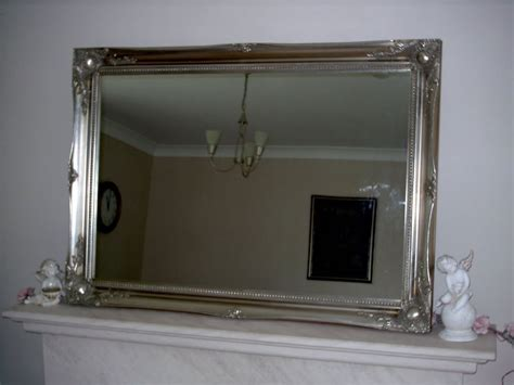 extra large bathroom mirror antique silver ornate extra large wall mirror 30 quot x 42