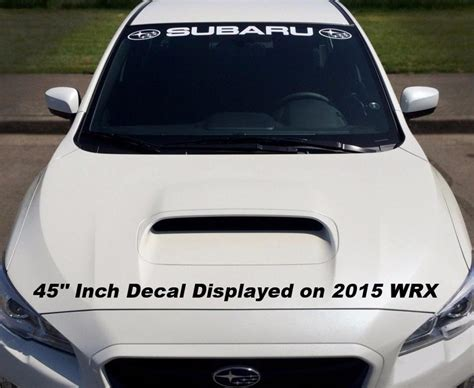 subaru windshield decal supdec subaru