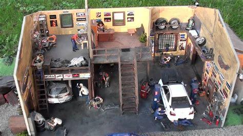Model Car Garage Diorama Accessories by Diorama Wykonana W蛯asnor苹cznie W Skali 1 24 Figurki I