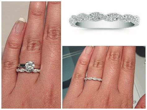 Wedding Bands For Twisted Engagement Rings by Twisted Engagement Ring With Wedding Band Www Imgkid