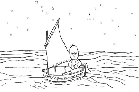 tiny boat drawing free coloring pages printable pictures to color kids