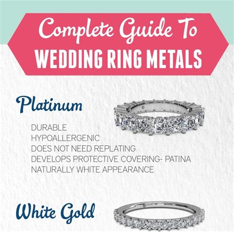 Wedding Ring Metals by A Complete Guide To Wedding Ring Metals Every Last Detail