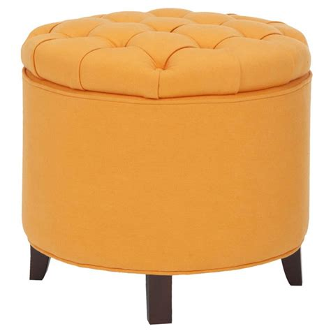 yellow tufted ottoman yellow tufted storage ottoman for the home pinterest