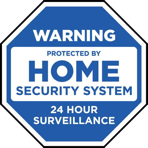 Home Security Signs by Protected By Home Security System Yard Sign F8102