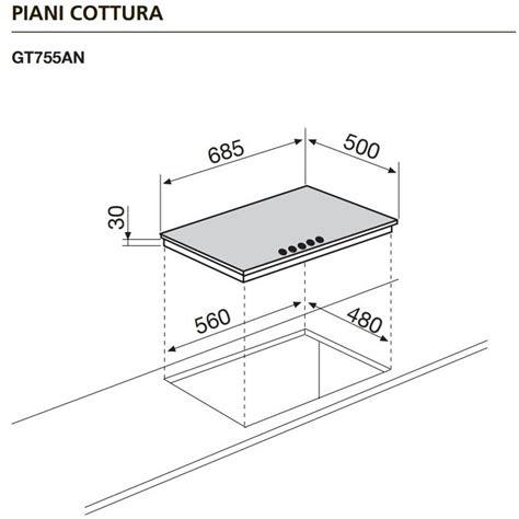 piano cottura 5 fuochi 70 cm glem gas gt755an piano cottura a gas 70 cm 5 fuochi colore