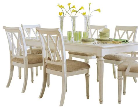 painted dining room set american drew camden light 8 piece leg dining room set in