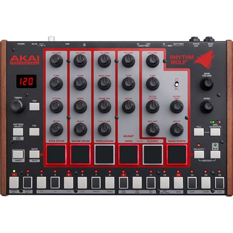 rhythm wolf drum machine disc akai rhythm wolf analog synth and drum machine at