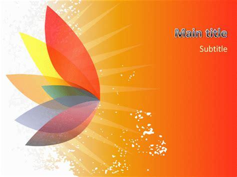 beautiful themes for powerpoint 2010 beautiful sun spray presentation template free