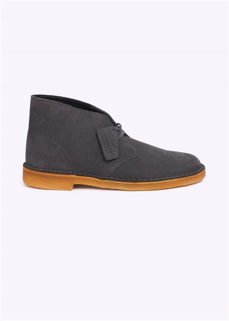 clarks originals suede desert boot grey