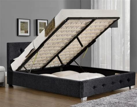 Bed Frames For Sale Derby Derby Charcoal Chenille Fabric Ottoman Bed Frame