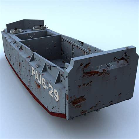 craft models for lcvp landing craft 3d model