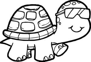 tortoise color glasses tortoise turtle coloring page wecoloringpage