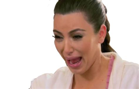 Kim Kardashian Crying Meme - kim kardashian crying face transparent