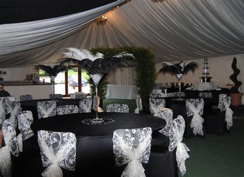 black white wedding decor lace patterned white