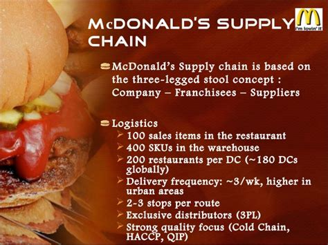 25752405 supply chain comparison mcdonalds dominos pizza