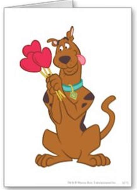 scooby doo valentines day scooby doo greeting card