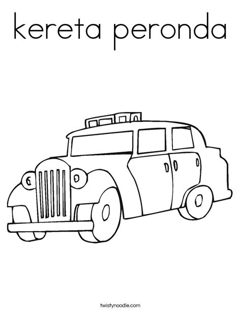 Pe Coloring Pages Kereta Peronda Coloring Page Twisty Noodle by Pe Coloring Pages