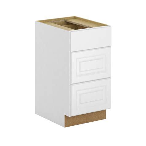 3 drawer base cabinet white hton bay assembled 18x34 5x24 in 3 drawer base